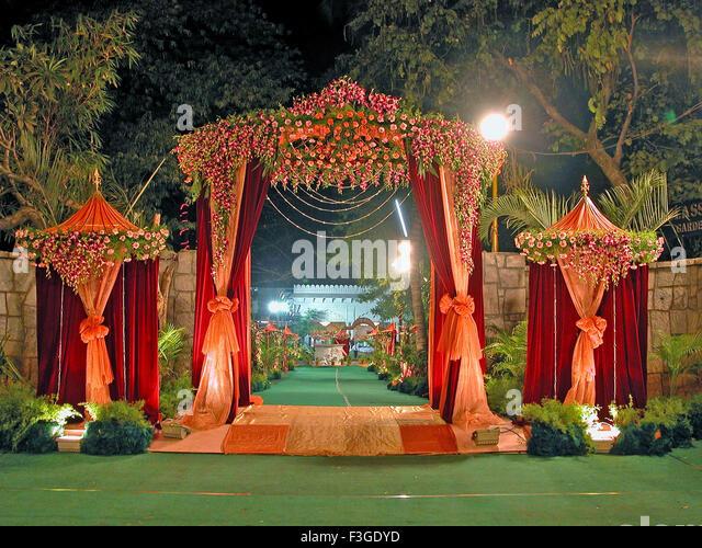 Weddingdecoration stock photos weddingdecoration stock images view of a wedding decoration india stock image junglespirit Image collections