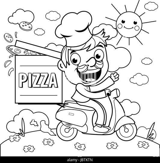 Pizza Hut Logo Black And White Sketch Coloring Page