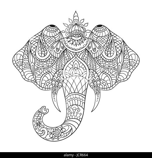 Elephant Head Cut Out Stock Images & Pictures - Alamy