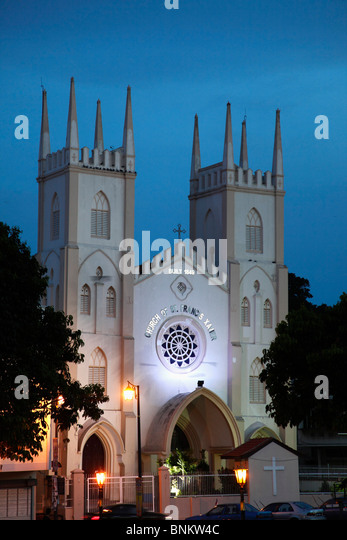 malacca town and st francis xavier Church of st francis xavier, malacca (9 july, 2005) st francis xavier church (gps: 21953, 10225059) along jalan laksamana, formerly riverside, in malacca was completed in 1856 on the site of an old portuguese church by a french priest, father farv.