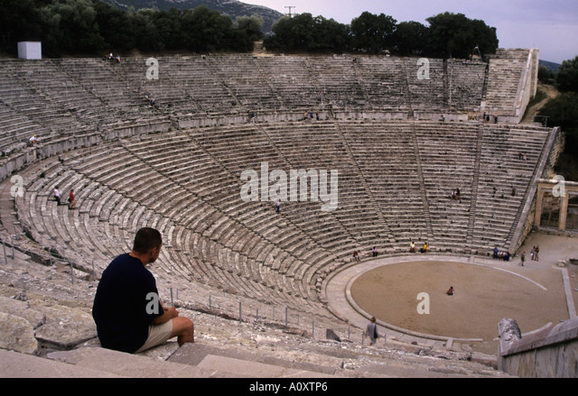 a discussion on the ancient greek theater and drama Greek theatre and its origin from ancient greece in the forms of tragedy, comedy and satyr.