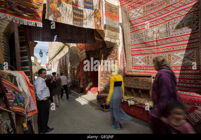 Traditional Berber Carpet Morocco Stock Photos