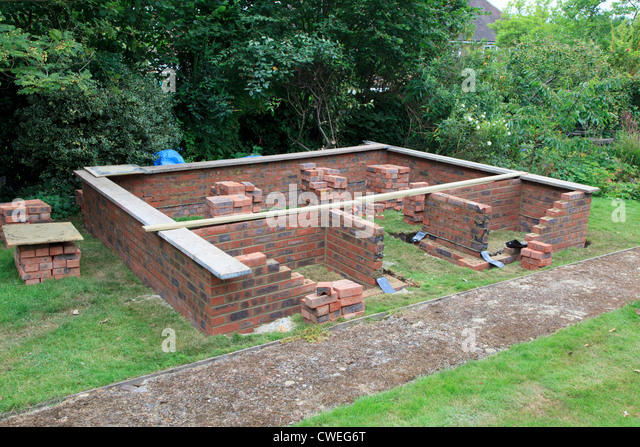 Building Bricks Foundations Stock Photos