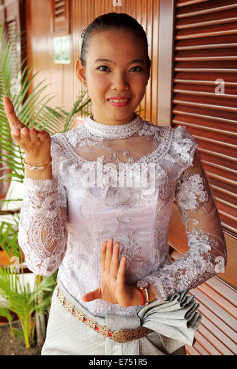 Cambodia Traditional Clothing Dress Stock Photos