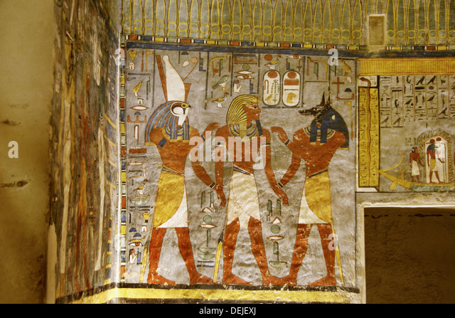 Mural paintings egyptian culture stock photos mural for Egypt mural painting