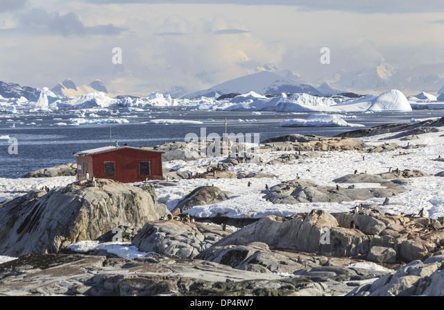 Antarctica port lockroy british base stock photos for Port lockroy