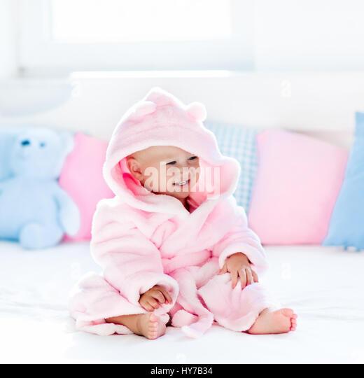 Cute Bath Pillow : Child Shower Bathroom Towel Stock Photos & Child Shower Bathroom Towel Stock Images - Alamy