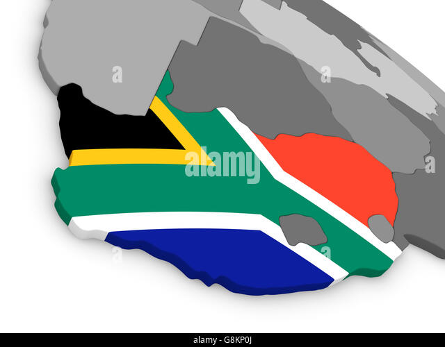 South Africa Map Illustration Flags Stock Photos South Africa