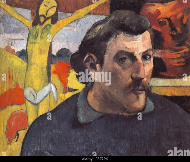 Self-portrait with the Yellow Christ. Artist: Gauguin, Paul Eugéne ...