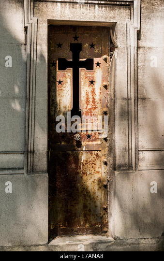 A Rusty Iron Mausoleum Door In A Cemetery In Paris France. - Stock Image : mausoleum doors - pezcame.com