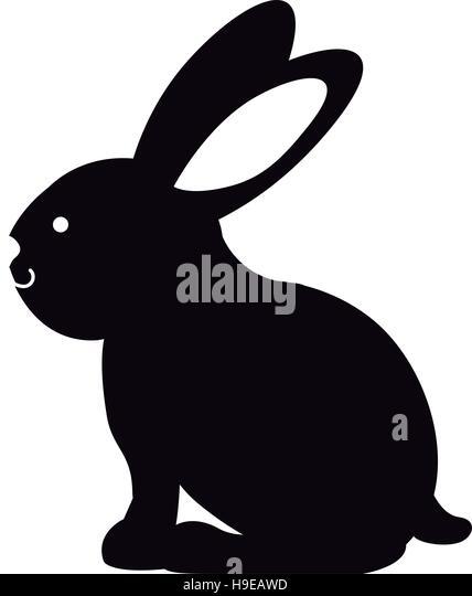 Rabbit Ears Silhouette Bunny Ears Vector Stoc...