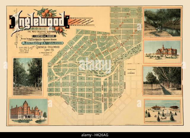 Map Of Inglewood Stock Photos Map Of Inglewood Stock Images Alamy - Inglewood map