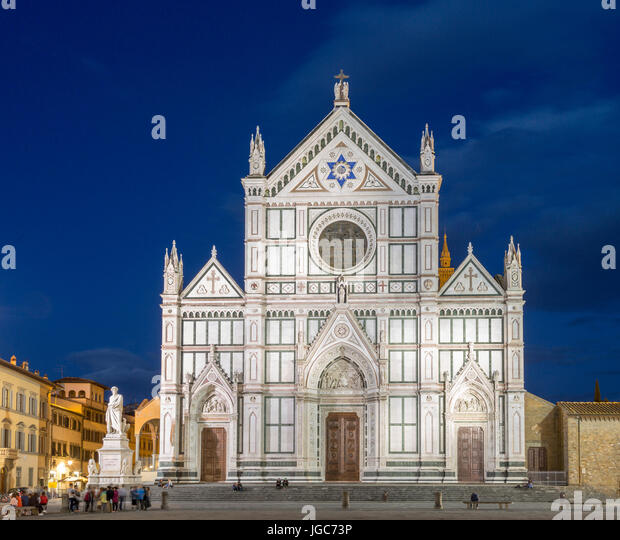 Basilica Of Santa Croce Florence Stock Photos & Basilica ...