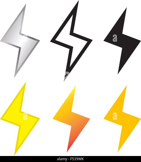 Thunder and Lighting bolt icon in many style vector - Stock Image  sc 1 st  Alamy & Lighting Bolt Stock Photos u0026 Lighting Bolt Stock Images - Alamy azcodes.com