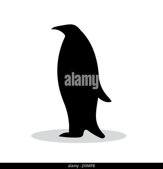 bird emperor penguin silhouette stock photos & bird emperor penguin