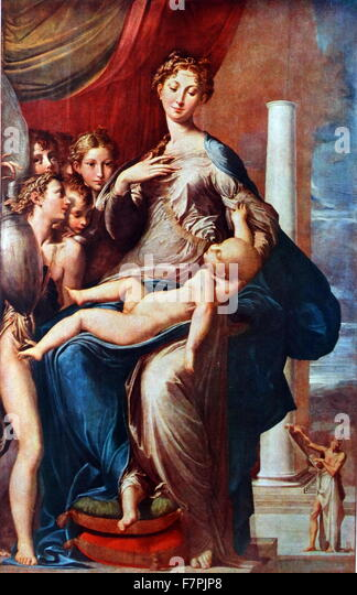 madonna of the long neck The madonna with the long neck was rendered by parmigianino for elena baiardi to be placed in her family chapel in the church of santa maria dei servi, parma this is the artist's bestknown work and exemplifies his mastery at rendering graceful, elegant scenes.