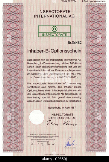 Historic Share Certificate Stock Photos & Historic Share ...