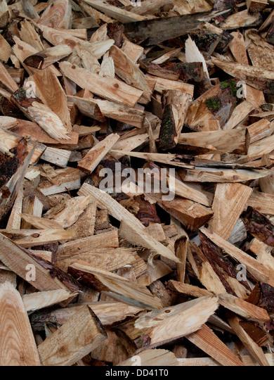 Woodchip pile stock photos images