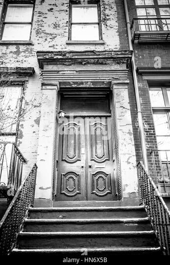 City Apartment Building Entrance apartment building black and white stock photos & images - alamy