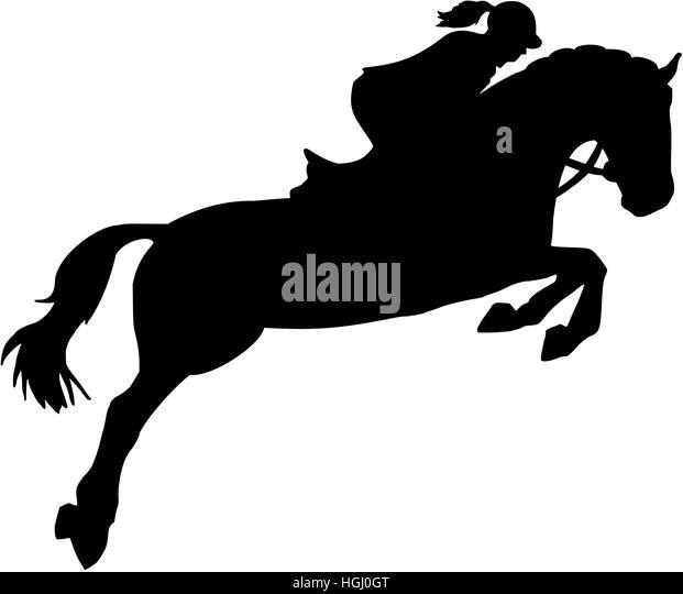Equestrian Show Silhouette Stock Photos & Equestrian Show ...