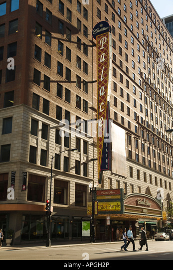 illinois chicago cadillac palace theater on randolph street marquee. Cars Review. Best American Auto & Cars Review