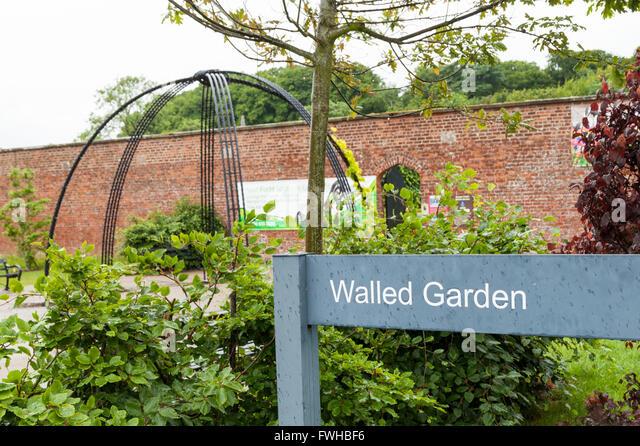 bangor castle walled garden stock photos bangor castle. Black Bedroom Furniture Sets. Home Design Ideas