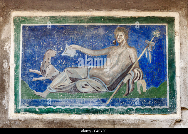 Roman reclining stock photos roman reclining stock for Ancient roman mural