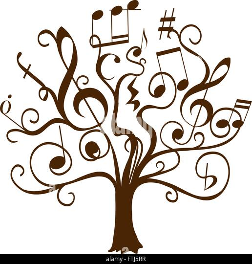 curly stock vector images alamy rh alamy com Music Notes Music Notes Graphics