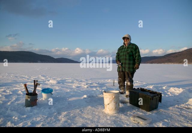 Otsego lake stock photos otsego lake stock images alamy for Ice fishing ny