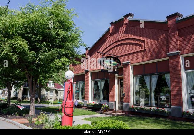 Barber Shop Ithaca : Quaint shop with vintage gas pump, Palmyra, Finger Lakes, New York ...