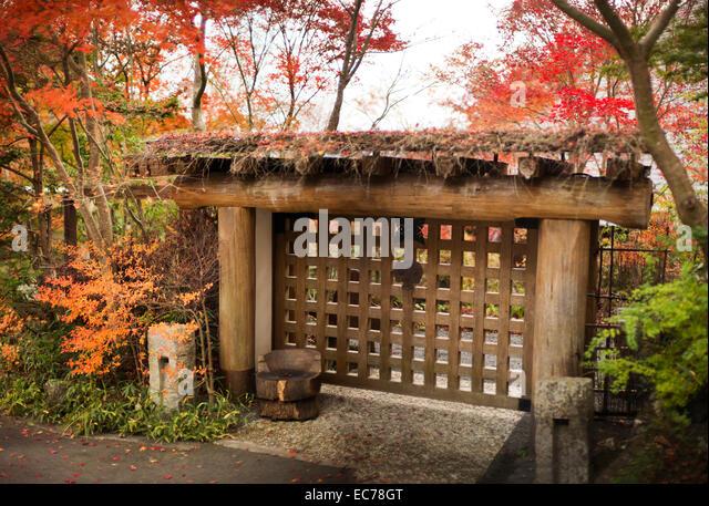 Japanese garden entrance stock photos japanese garden for Japanese garden entrance