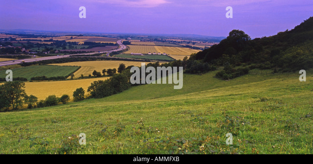 Aston Rowant United Kingdom  city photos gallery : Chilterns Panorama. Aston Rowant EN Reserve looking south over M40 ...