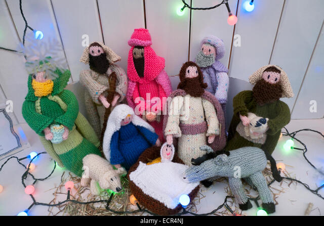 Knitting Patterns Christmas Figures : Manger Christmas Stock Photos & Manger Christmas Stock Images - Alamy