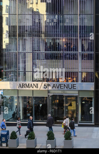 Armani flagship store stock photos armani flagship store for Armani store nyc