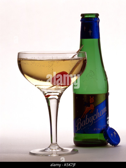 Babycham With Cherry In Glass
