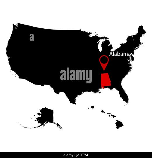 Alabama State Map Stock Photos Alabama State Map Stock Images - Alabama in us map