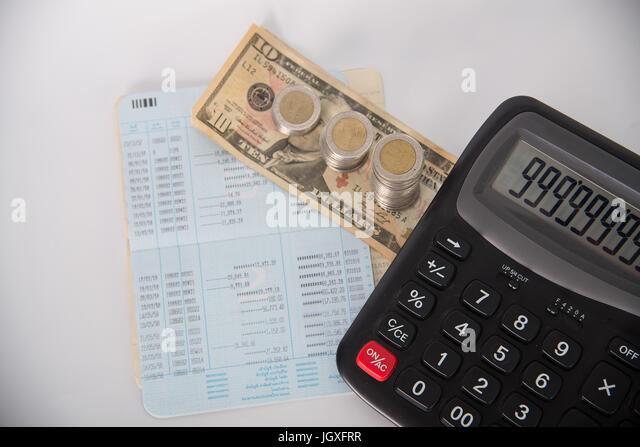 Savings Account Statement Stock Photos & Savings Account Statement