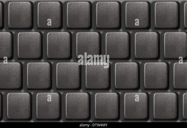 computer keyboard without letters stock image