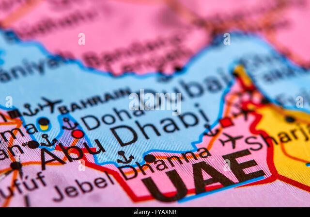 Map Abu Dhabi Stock Photos Map Abu Dhabi Stock Images Alamy