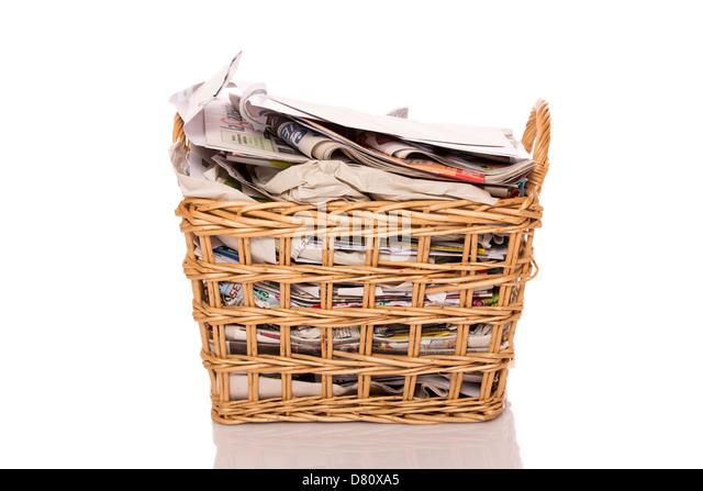Wastepaper basket stock photos wastepaper basket stock images alamy - Basketball waste paper basket ...