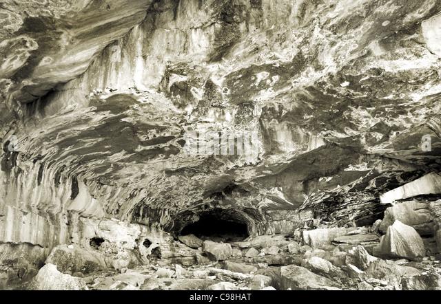 Man Cave Northwestern Ontario : Rock climb limestone stock photos
