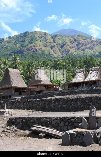 Bajawa Indonesia  City new picture : Indonesia Rural Village House Stock Photos & Indonesia Rural Village ...