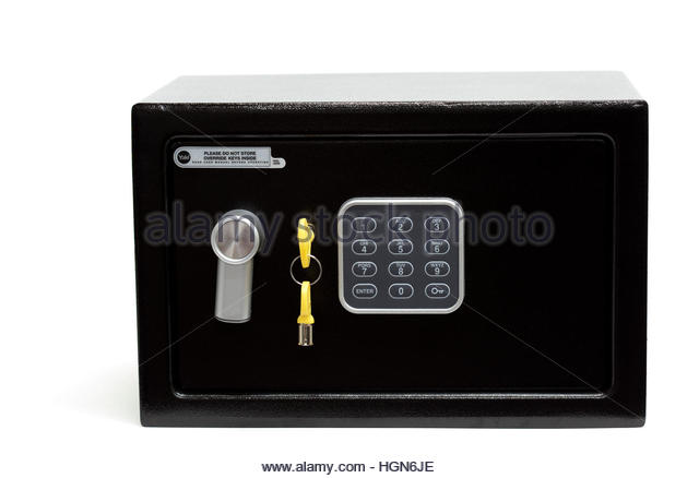 home safe to keep valuables stock image