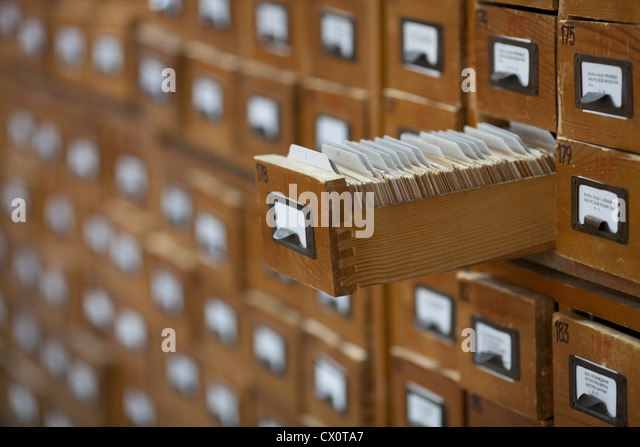 Old Library Card Catalog Stock Photos & Old Library Card Catalog ...