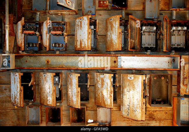 old electric boxes stock photos old electric boxes stock images rusty fuse boxes in old factory stock image