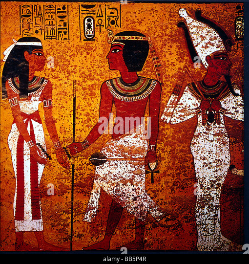 Osiris painting stock photos osiris painting stock for Egyptian mural painting