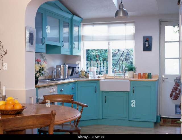 Interiors traditional kitchens dining rooms stock photos for Dining room off kitchen