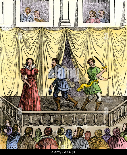 the scene of early elizabethan theater Since the first religious plays in early modern england, stage devils have been a   used to write the religious plays withdrew from the theatrical scene because.