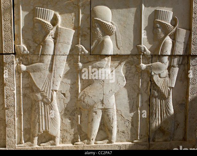 Ancient persian soldiers stock photos