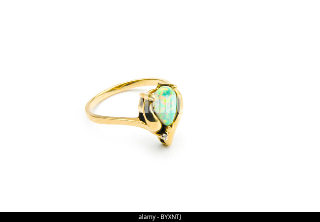 Black Crown Ring With Opal To Bay